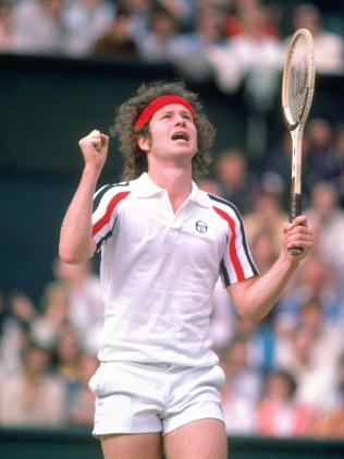 John McEnroe at Wimbledon in 1980. (Pic: Steve Powell)