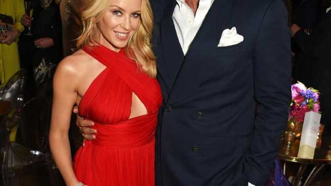 Kylie Minogue and Joshua Sasse in 2016