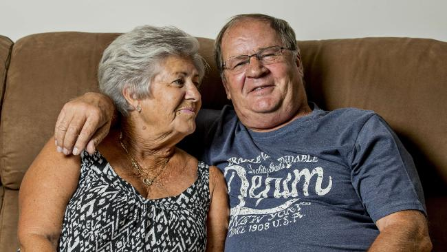 NRL legend Tommy Raudonikis with his partner Trish Brown. Photo: Jerad Williams