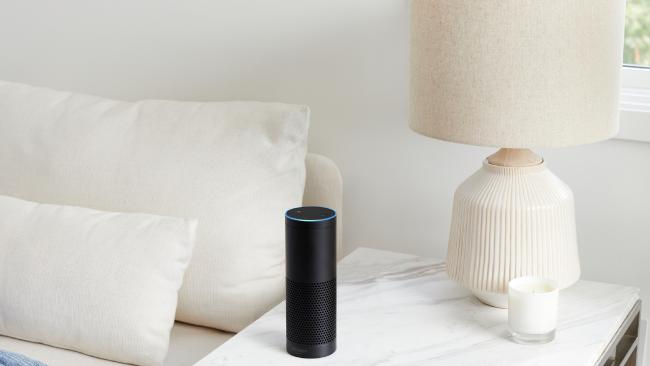 Amazon's Echo Plus smart speaker is designed to respond to commands and act as a hub for connected home products, like Philips Hue light bulbs. Picture: Supplied