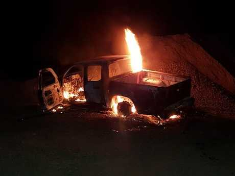 Police are seeking information about a ute fire on Wyrallah Rd.