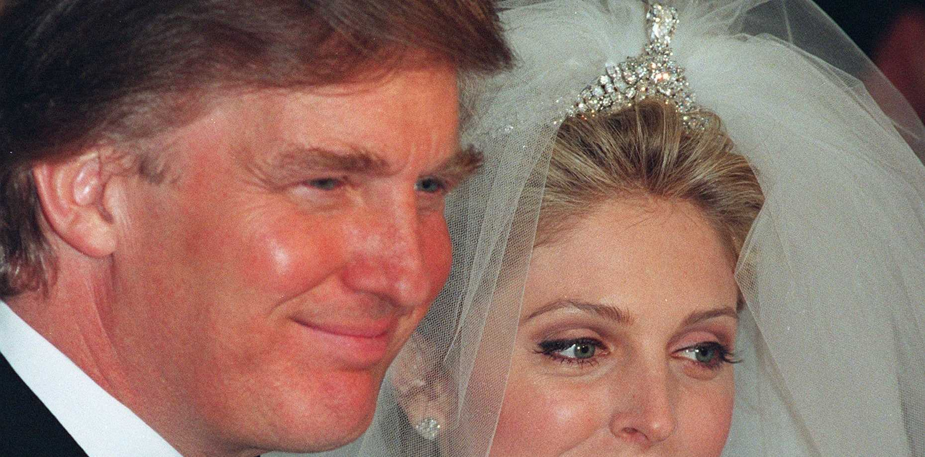 Donald Trump and Marla Maples at their 1997 wedding