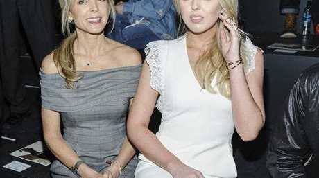 Marla Maples (L) and Tiffany Trump at New York Fashion Week last year.