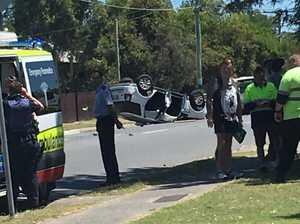 WATCH: Car thieves flee high-speed crash