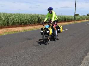 FAMILY ADVENTURE: Cloe Wolters on her bike during a