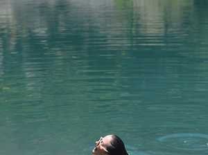 Zoe English, of Lismore, enjoys a cool swim at the
