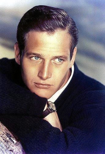 Paul Newman had striking blue eyes.