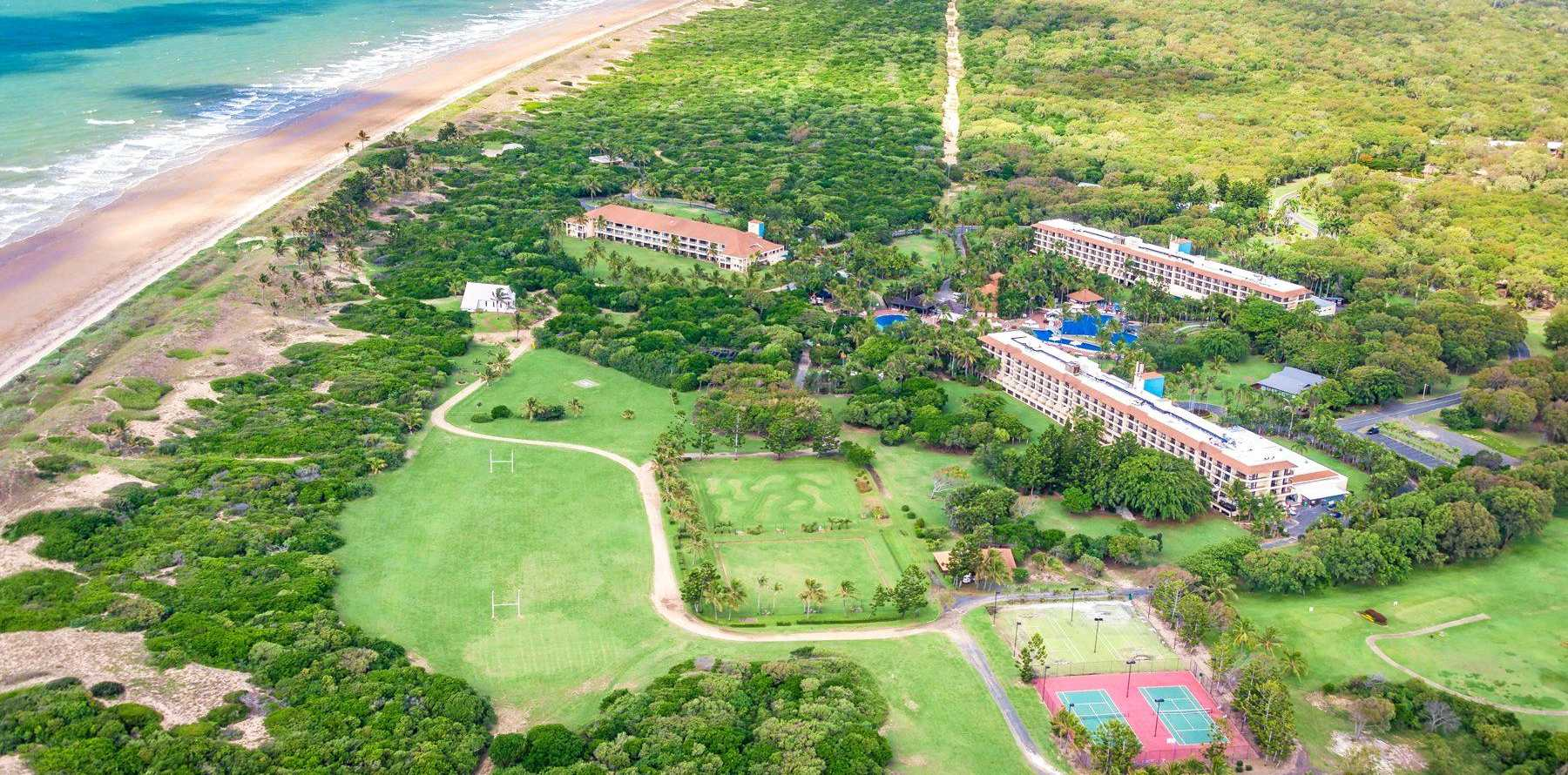 CQ OPPORTUNITIES: Aerial view of the currently closed Capricorn Resort, which was ripe for revitalisation.