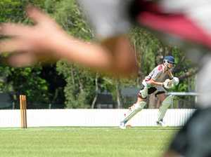 YOUNG TALENT: Sam Guerin works on his batting technique at the Rockhampton Cricket Ground during the Queensland Cricket Academy Program training camp.