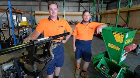 Josh Comerford and Nick Lee when they first opened their business two years ago. Photo: Chris Ison / The Morning Bulletin