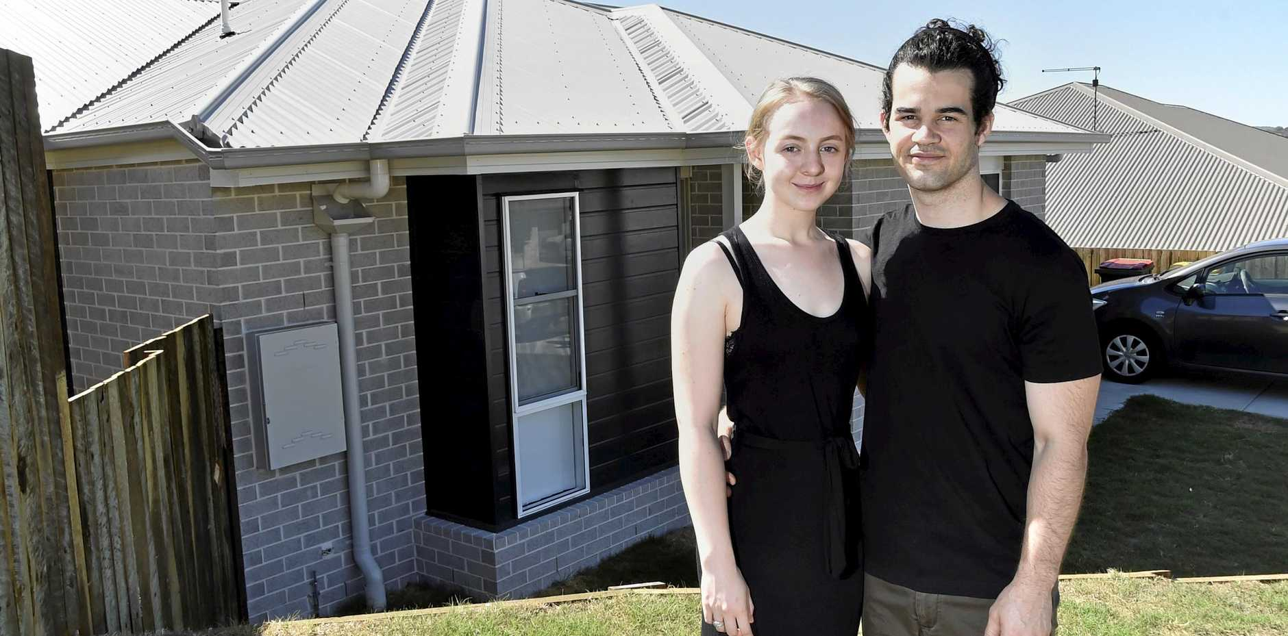 PERFECT FIT: Josh and Sacha Von Blanckensee are thrilled with their new two-bedroom home.