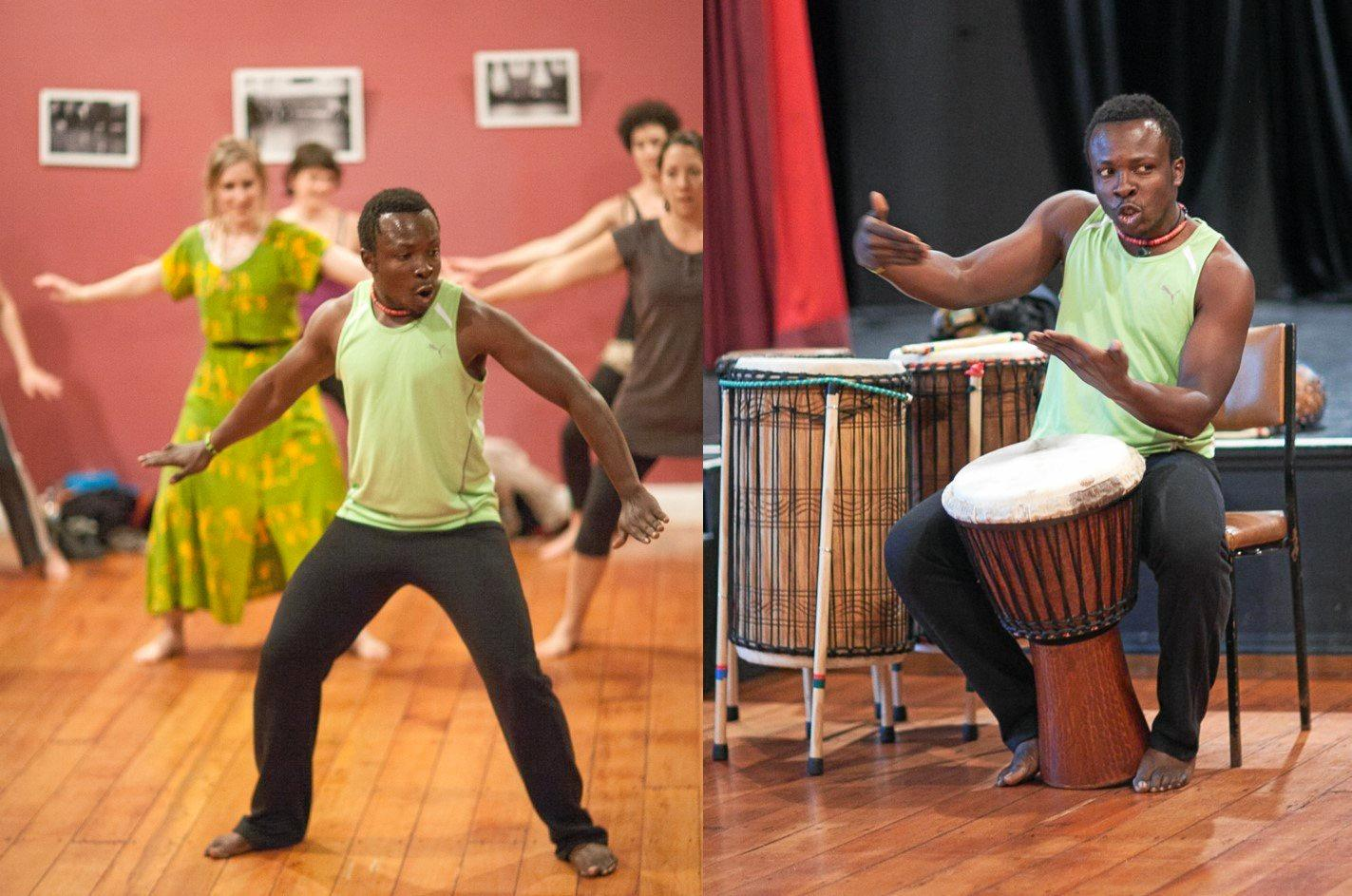 Koffie Fugah will share the history of his culture during the weekend workshop and wants everyone in Hervey Bay to come and experience the power of West African traditional dancing and drumming.