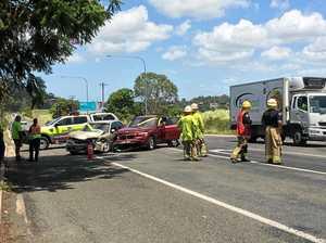 Glenella Bruce Highway smash