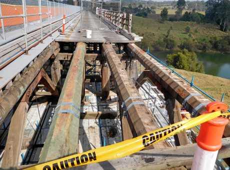 Repairs on the Dickabram Bridge.