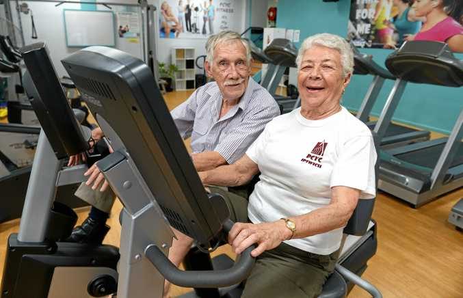 GET ACTIVE: John and Moirra Van Hattem enjoy hitting the gym at the Ipswich PCYC.