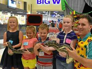 CHILDREN'S FUN: April-lee, Jade Hickey, Dalton Campbell and Morgan Donaldson at Dalby Shoppingworld.