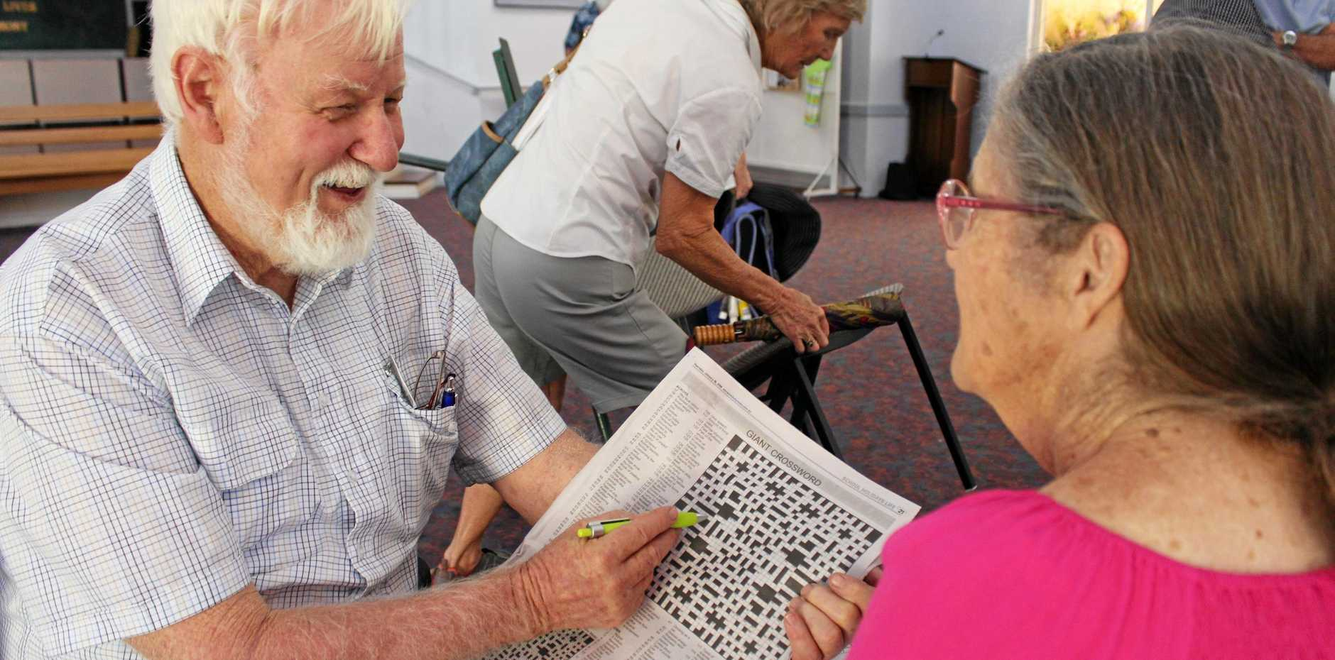 PUZZLE PROS: University of the Third Age crossword tutor Arthur Maynard said if you can't solve the clue the setter has failed you.