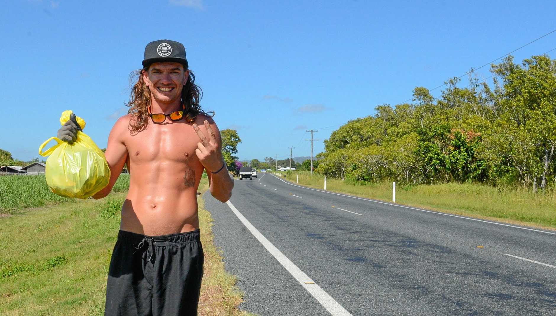 Aydan Wyse has been cleaning up the roads of the Clarence and Richmond Valley.