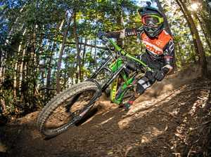 GOING DOWN: Local rider Josh Button will lead the charge at the MTBA Downhill Nationals at Coramba.