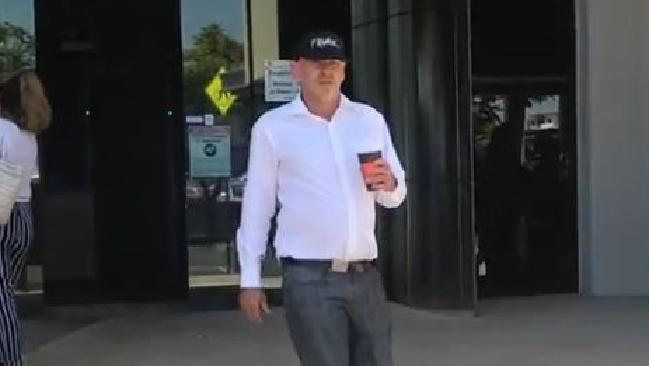 Frank James Klacek leaves Southport Magistrates Court.