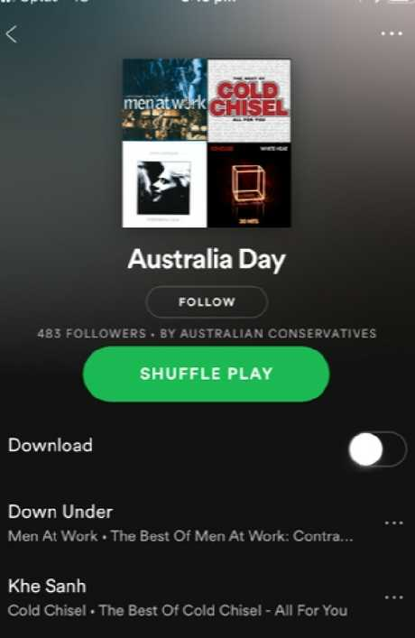 Spotify deleted the playlist following artist complaints.