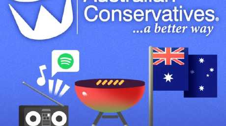 The Australian Conservatives promoted the playlist on social media.