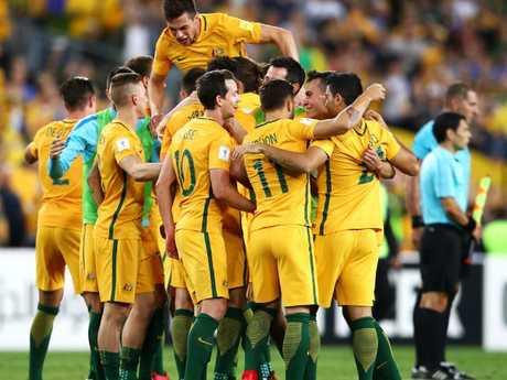 Australia celebrate.