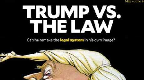 Mother Jones took a look at Donald Trump and his travel ban. Picture: Mother Jones