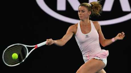 Italy's Camila Giorgi lost her Australian Open match against Ash Barty on Day 4 of the Australian Open. (Pic: Saeed Khan)