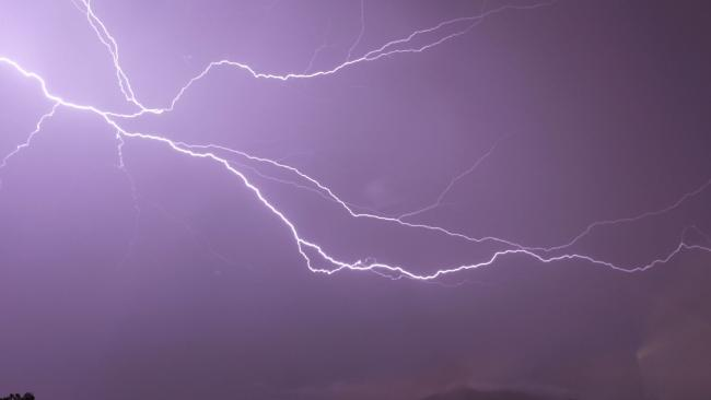 Kristy Gordon-Cooke captured the light show over White Rock during Tuesday's storms.