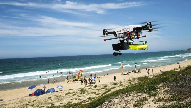 The drone in action. Pic: Sue Graham