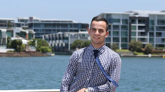 Ben Kara is a real estate agent who's invested heavily in cryptocurrency, and life is good. Picture: Glenn Hampson