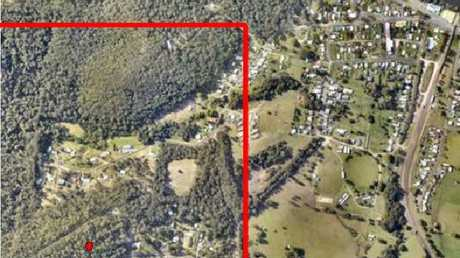 Police aerial map of the search area for the disappearance of William Tyrrell. Picture: Detective Chief Inspector Gary Jubelin.