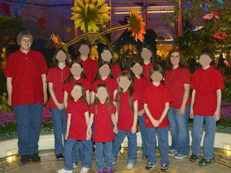 The children were often all dressed the same for outings.