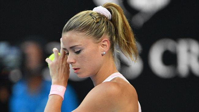 Camila Giorgi battled against Ash Barty on Thursday during the Australian Open. (Pic: Saeed Khan)