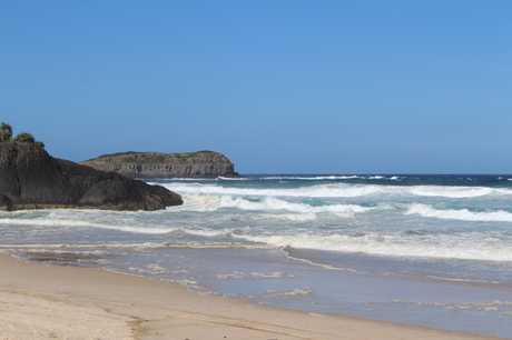 Two people were rescued from rough surf conditions at Dreamtime Beach, Fingal Head.