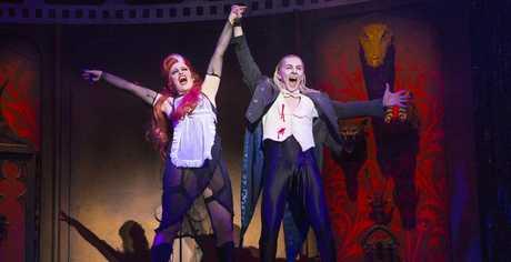 Amanda Harrison and Kristian Lavercombe as Magenta and Riff Raff in The Rocky Horror Show.