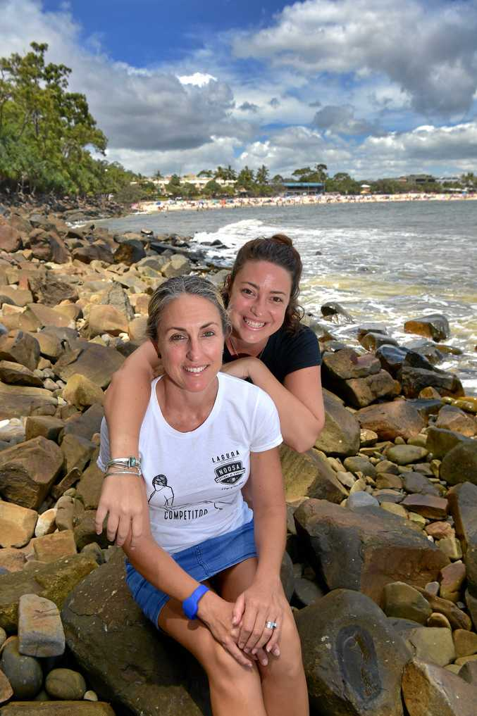 A FAMILY AFFAIR: Sam Smith (front) and Ellie Jarratt are part of the organising team for the Noosa Festival of Surfing.