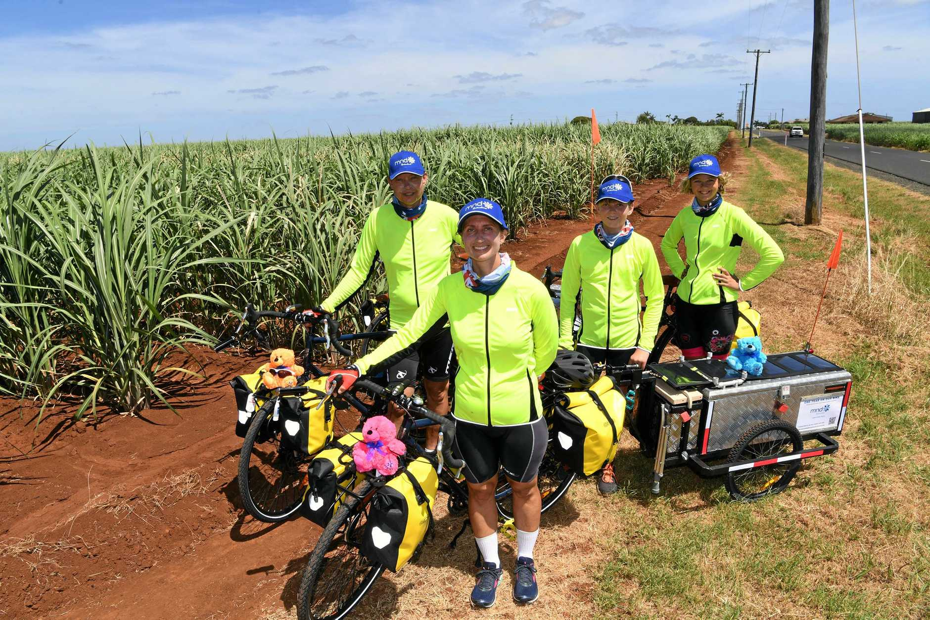 FAMILY ADVENTURE: The Wolters family are taking a trip of a lifetime. Jozef, Diana, Jack and Cloe are going to cycle around Australia.