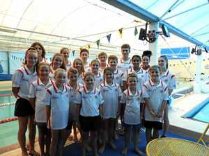 FORMING STORM: Mackay Cyclones swimming club.