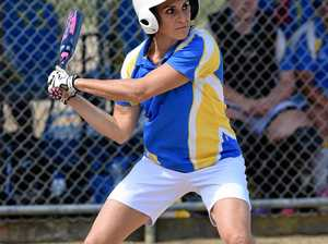 FULL SWING: The Waves' Mel Steele plays in the Hervey Bay Softball Association comp.