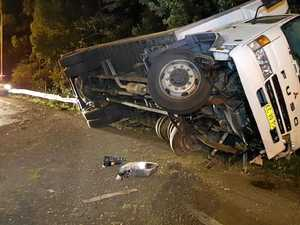 Two separate truck crashes on Pacific Hwy overnight