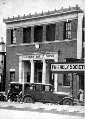MEMORIES: Commonwealth Bank in Warwick, 1932, next door to the Friendly Society Pharmacy.