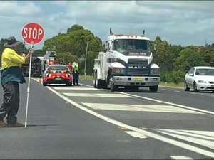 Truck roll-over, Bruxner Highway