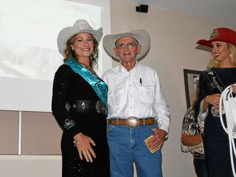 Tammie Conroy from Taroom (left) won the horsemanship category in the Miss Rodeo Australia 2018 competition in Warwick on Saturday night.