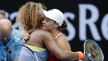 The match between Japan's Naomi Osaka and Australia's Ash Barty was moved from Rod Laver to Margaret Court Arena. Picture: AP