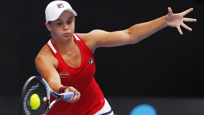 Ash Barty was in trouble against Naomi Osaka. Picture: Michael Klein