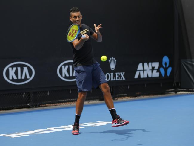 Nick Kyrgios is warming up for the Australian summer.