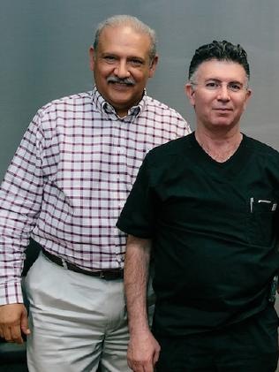 Mexican doctors Dr Alberto Siller (left) and Dr Alberto Garcia oversee patient care. Picture: Robyn Ivy