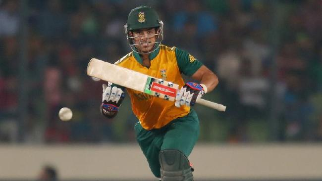 JP Duminy belt 37 runs off one over in domestic one day cricket in South Africa on Wednesday.